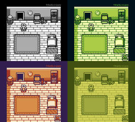 Pokemon Starter Bedroom (Gameboy Style) x4 Shades