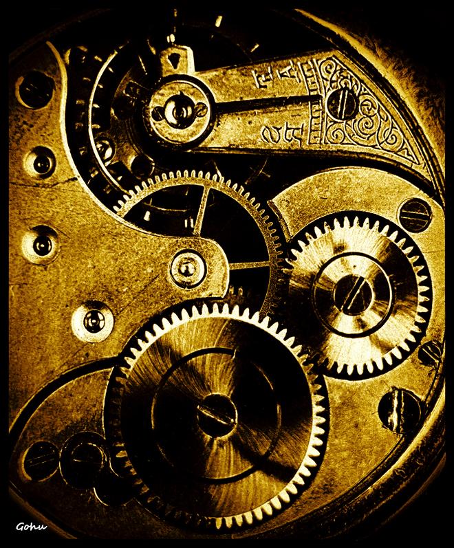 Clock mechanism by Gohuu