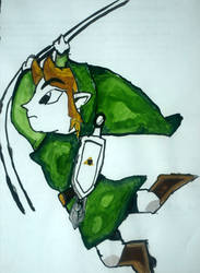 Toon Link in Watercolour by TheHypersonic55