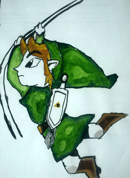 Toon Link in Watercolour