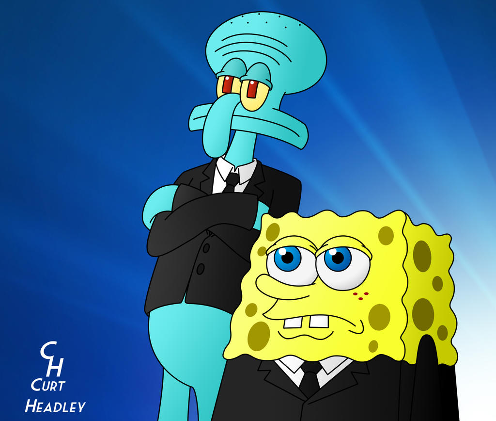 Squidward And Spongebob MIB By TheHypersonic55 On DeviantArt