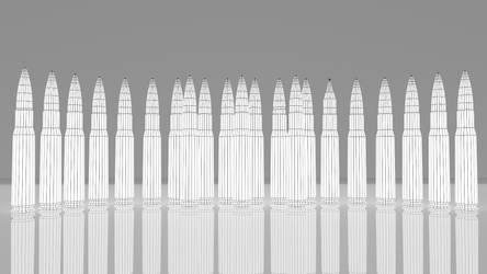 Ammunition 0-50x99mm Wireframe