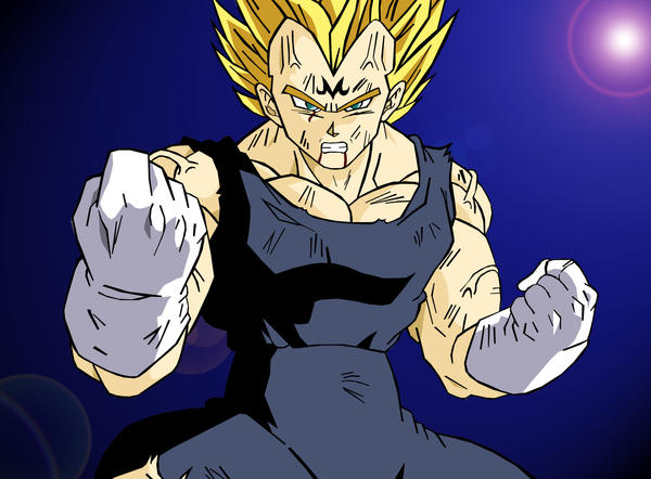 Majin Vegeta Vs Ssj2 Goku Lineart By Brusselthesaiyan On: Majin Vegeta Ssj 2 By Kingvegito On DeviantArt
