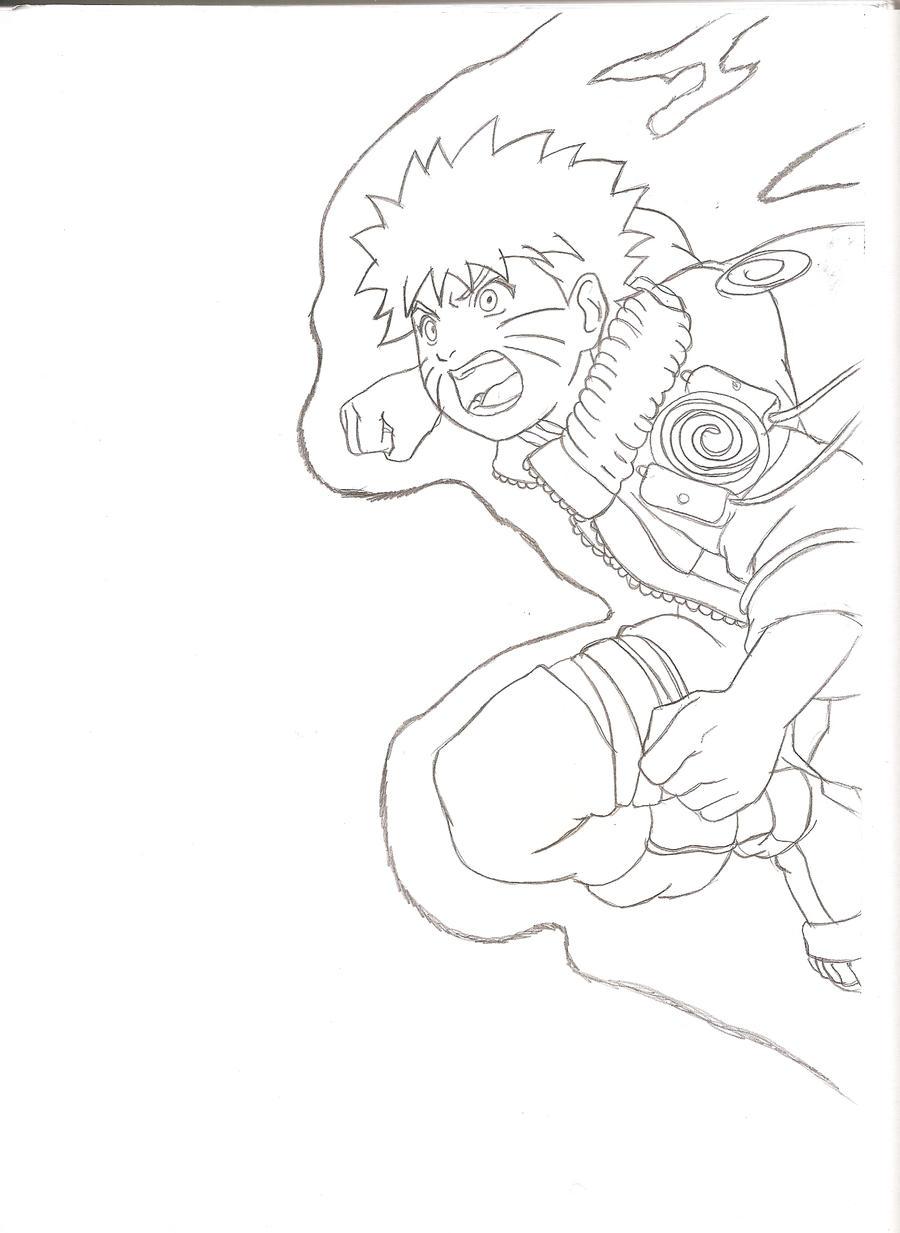 Naruto Lineart : Naruto lineart by kingvegito on deviantart
