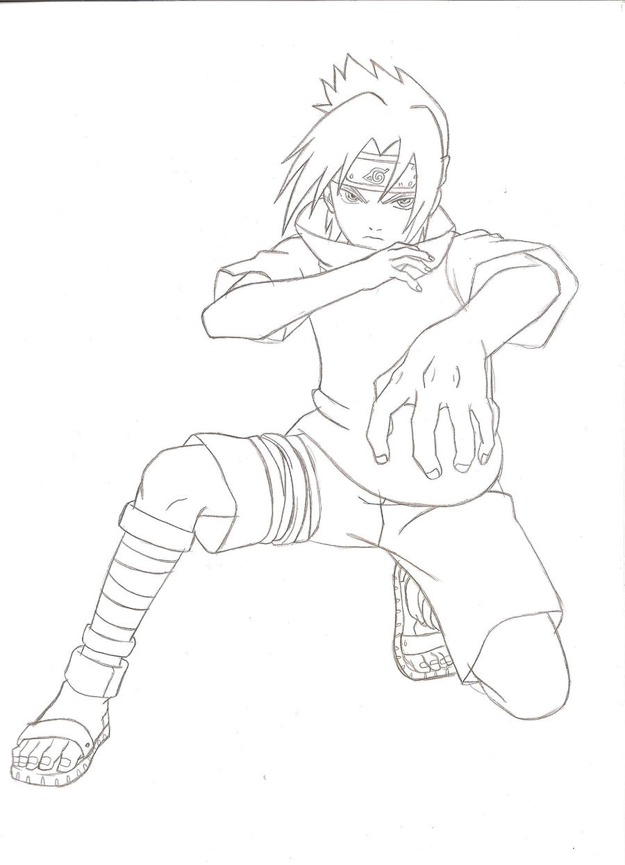 Sasuke Lineart by kingvegito on DeviantArt