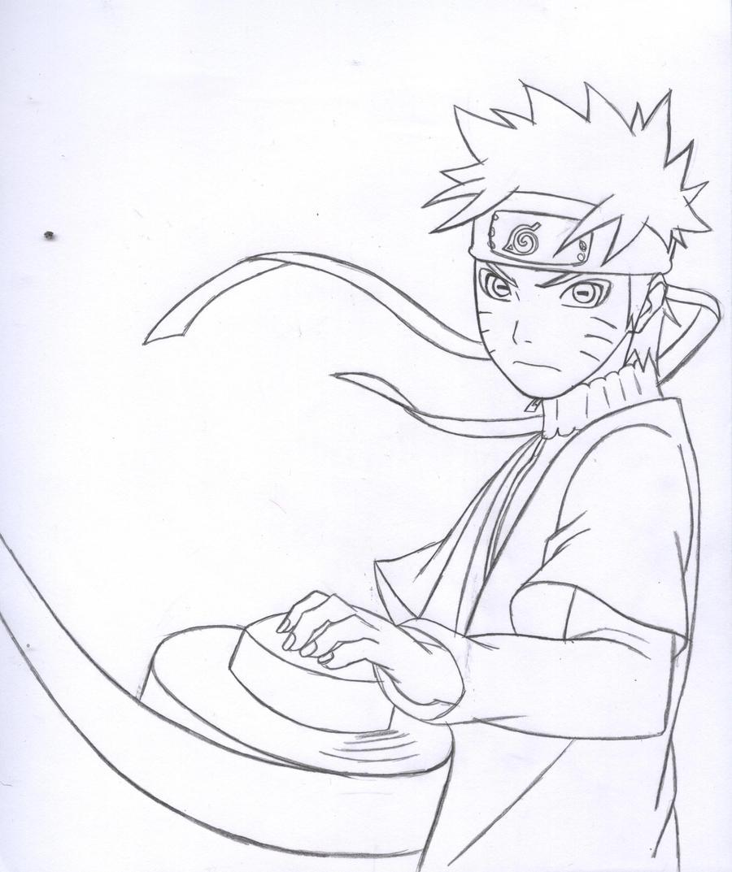Naruto Sage Mode Lineart by kingvegito on DeviantArt