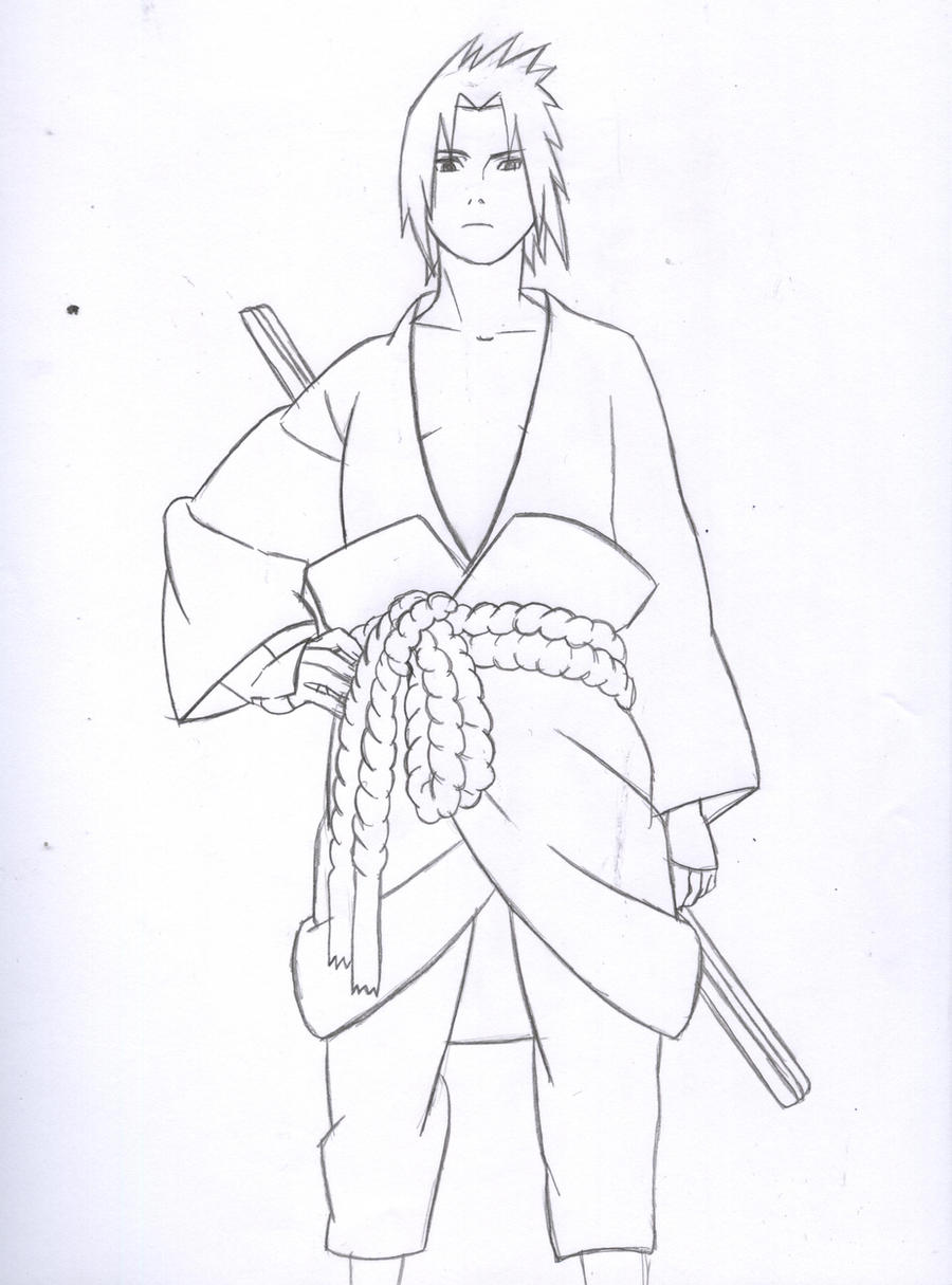 Sasuke Shippuden Lineart By Kingvegito On Deviantart