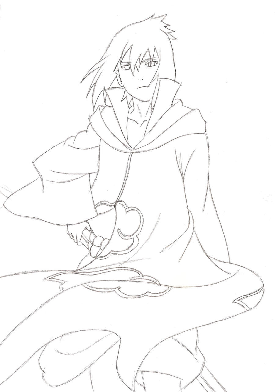 Sasuke Lineart : Sasuke akatsuki lineart by kingvegito on deviantart