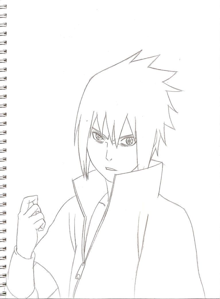Sasuke Lineart : Sasuke shippuden lineart by kingvegito on deviantart