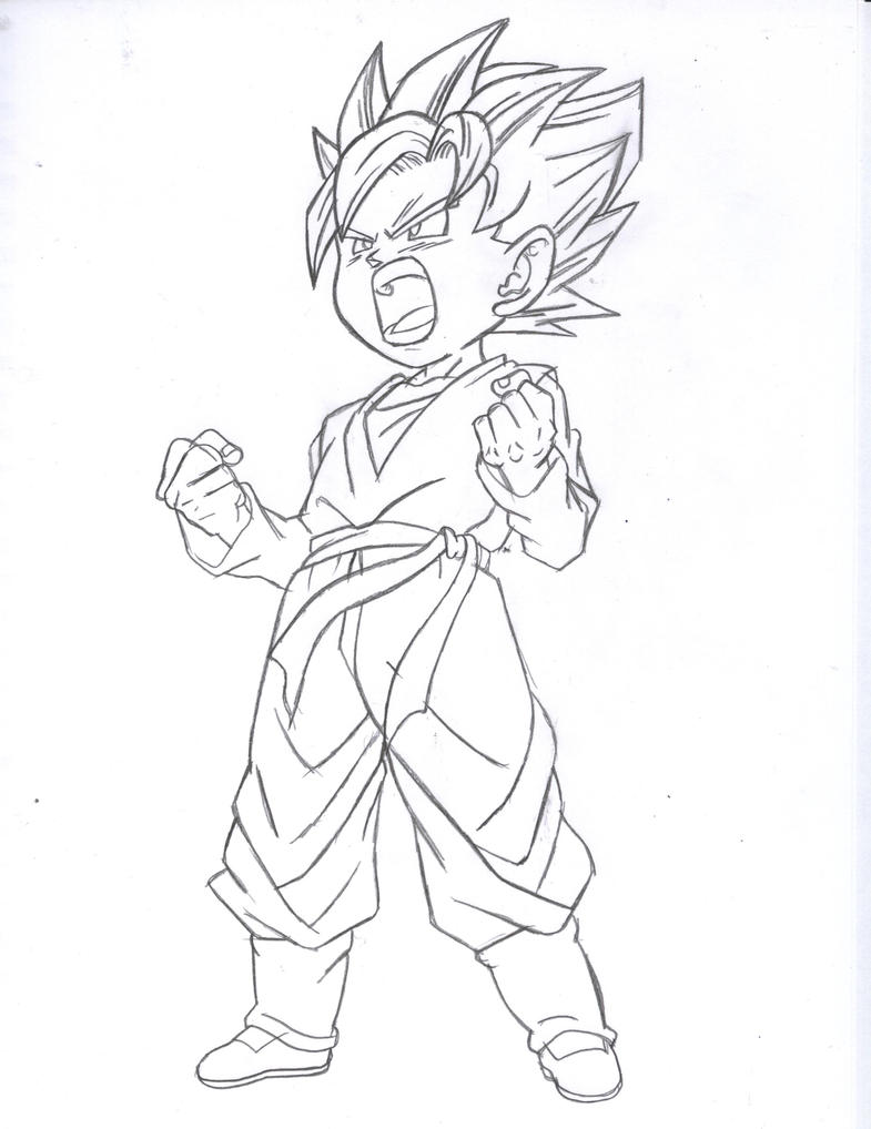 goten coloring pages - photo#27