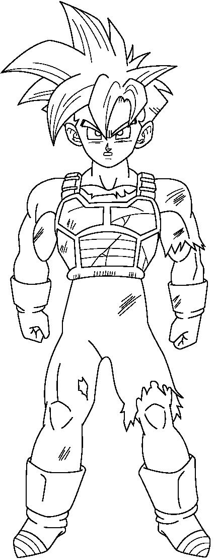 Gohan grande ssj para colorear - Imagui