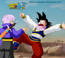 Goku and Trunks by kingvegito