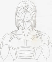 Future Trunks Long Hair Pencil Sketch by kingvegito