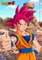 Goku Ssj God by kingvegito