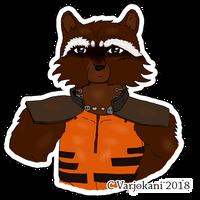 Cute Rocket Raccoon sticker that I made