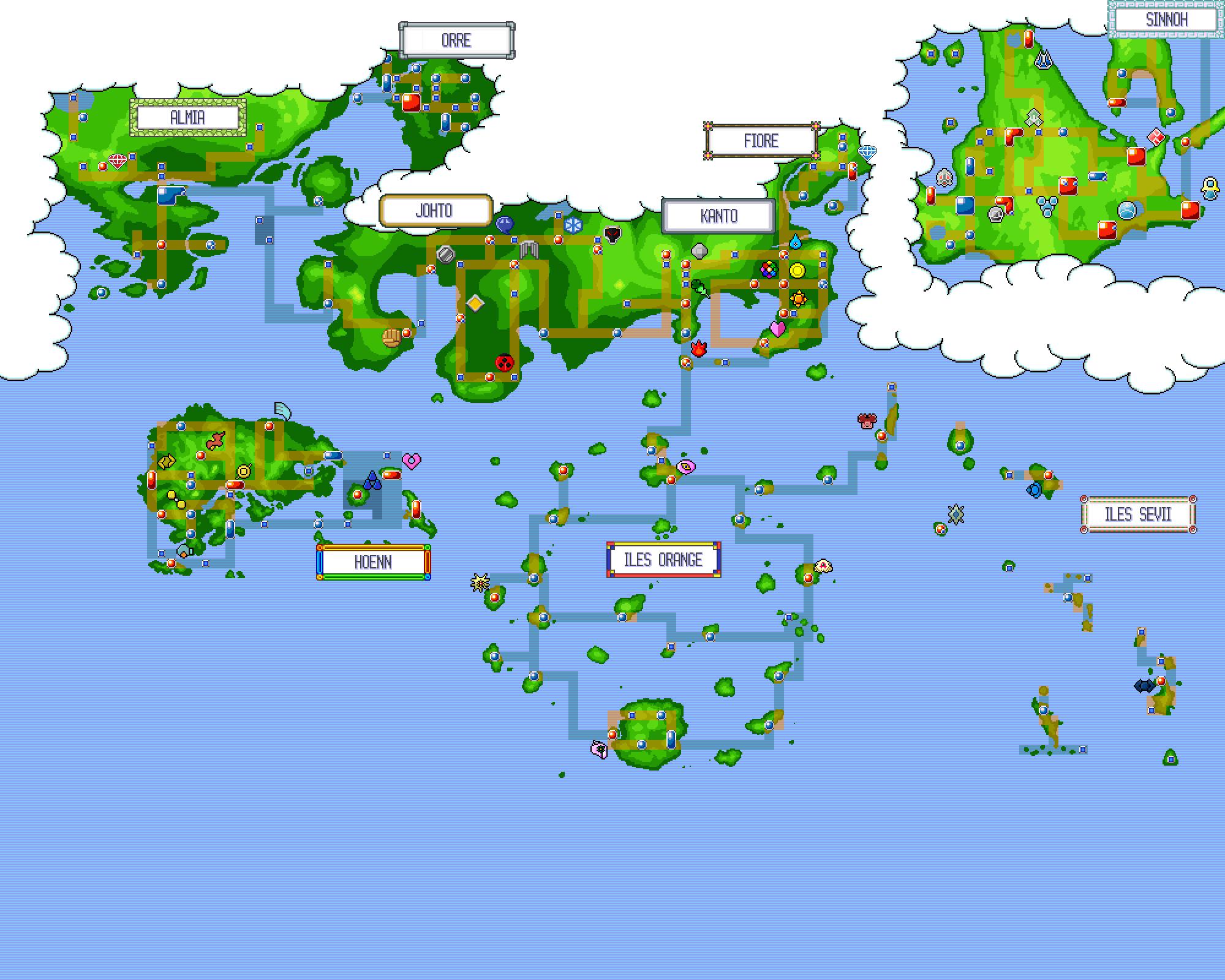 Pokemon world map by thomas999 on DeviantArt