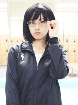 Haikyuu: Kiyoko in Locker Room