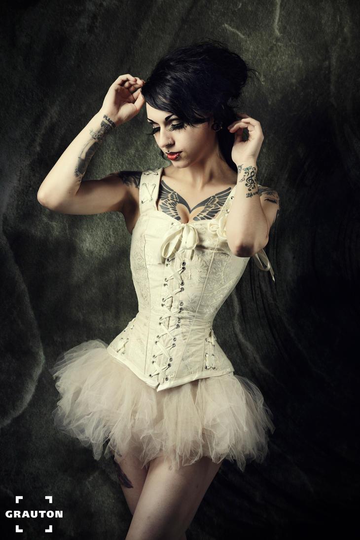 White ballerina by AshtrayheartRomina