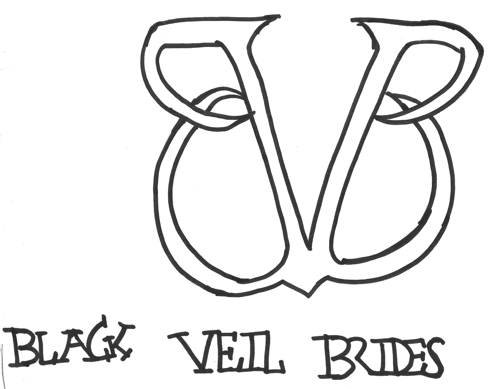 one direction logo coloring pages - black veil brides free coloring pages