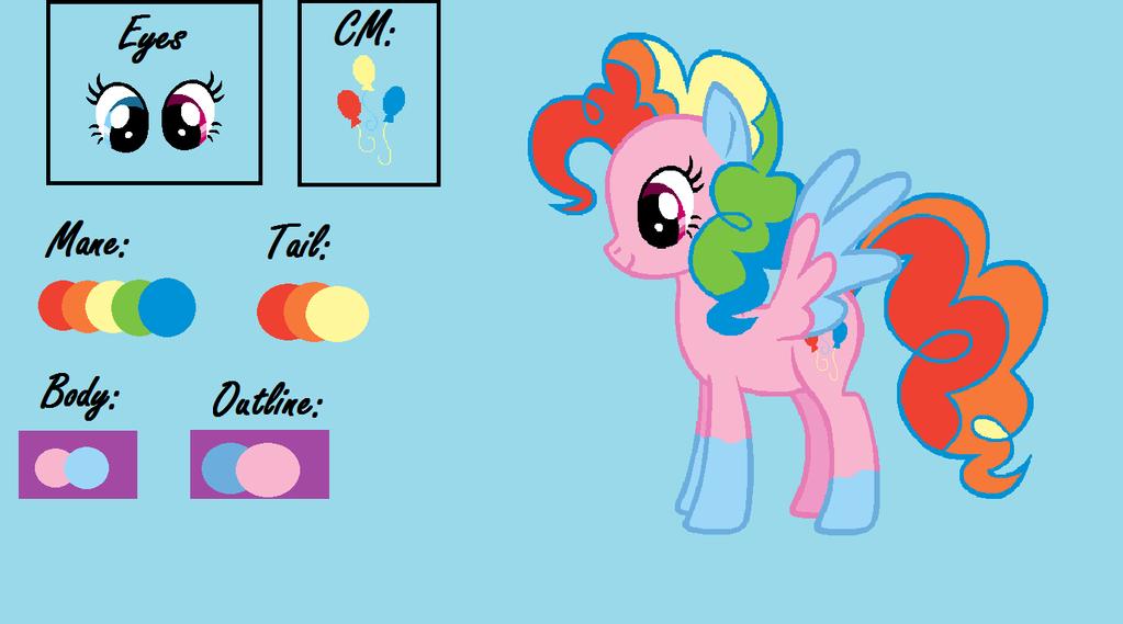 Rainbow Pinkie Dash Color Guide by RainbowPikachuPet on DeviantArt