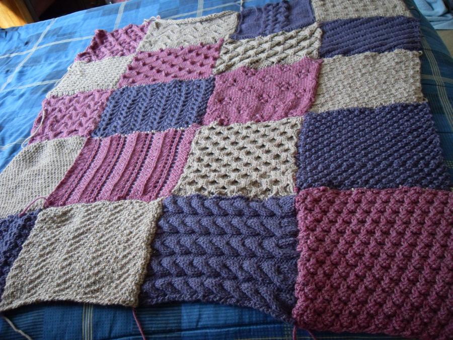 Knitting Pattern Patchwork Afghan : Patchwork Sampler Afghan by ladyfoxfire on DeviantArt