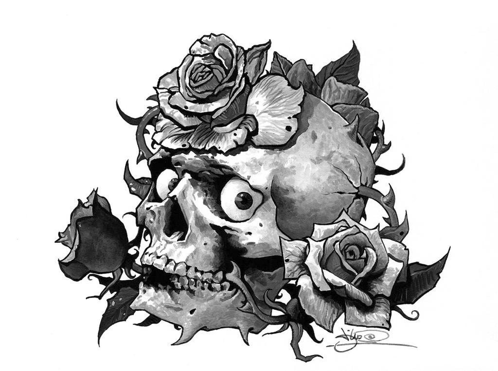Skull Tattoo Flash Art