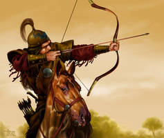 Ten Bulls Tribe raider by tikos