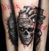 Skull heart by tikos