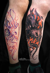 Cover-up with a freehand dragon