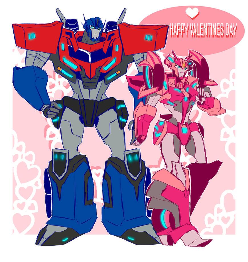 .:Happy Valentines Day : Optimus and Elita-1:.