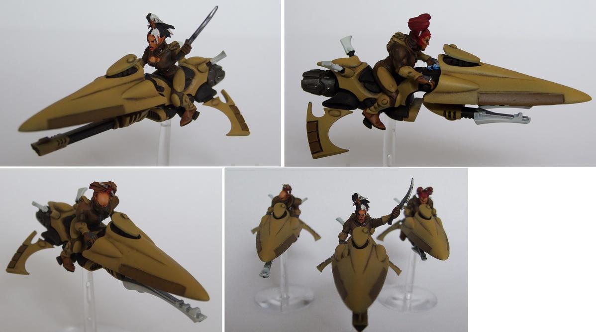 Eldar Jetbikes by half-halfling