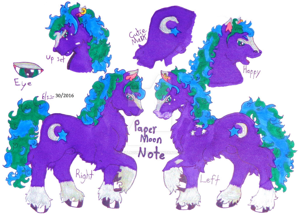 Paper Moon's Reference Sheet by SpellboundFox