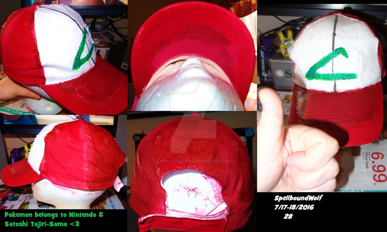 Anime Ash Ketchum Cap by SpellboundFox