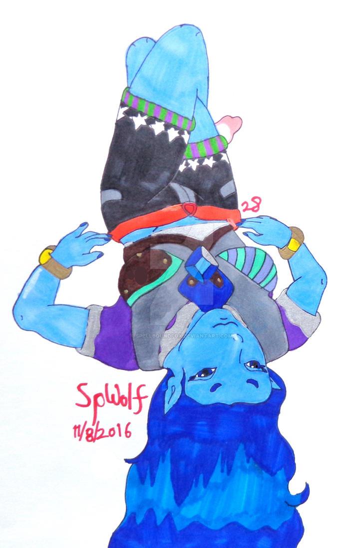 Gemsona Aquamarine by SpellboundFox
