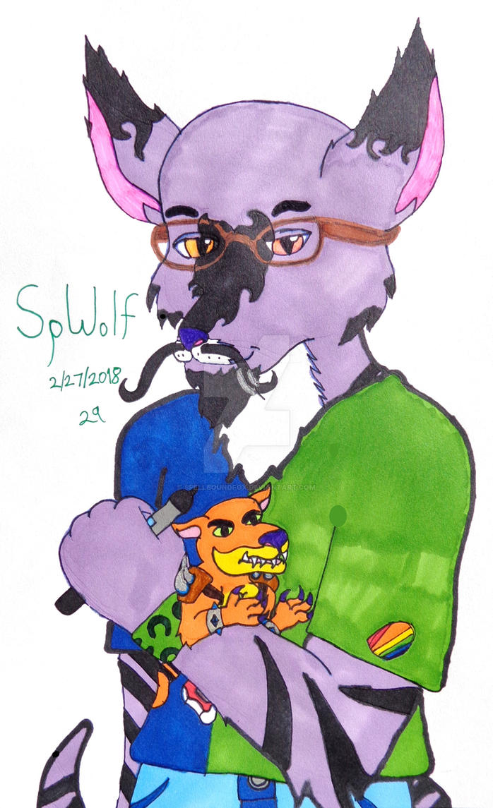 Julian Marcel Fan Fursona by SpellboundFox