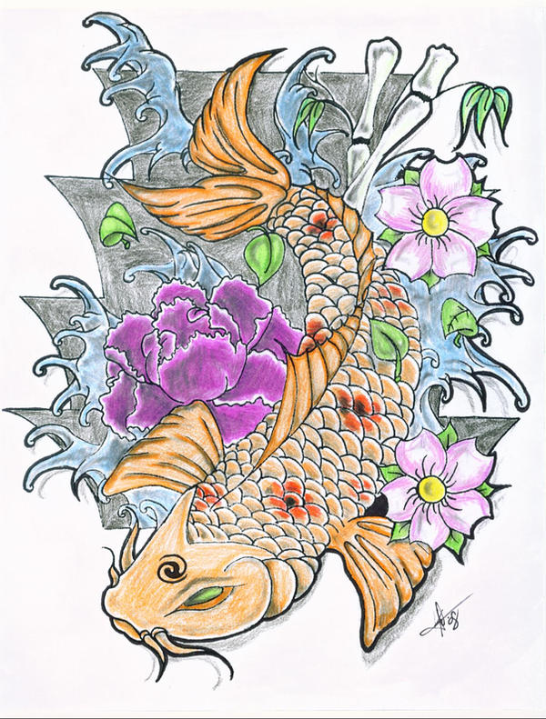 Isahah's koi colored by h8machineh8