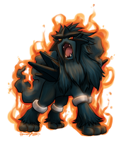 Corrupt Entei by nitefise
