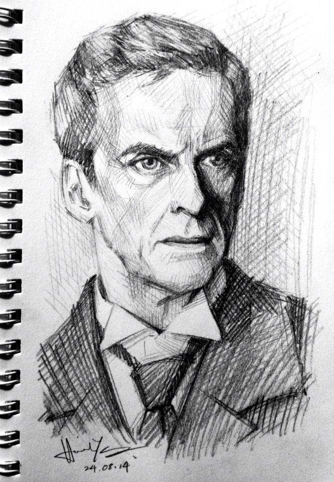 sketch - Peter Capaldi by nitefise