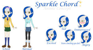 Sparkle Chord Anime Style(concept art) by SparkleChord
