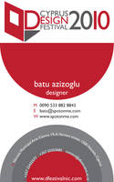 DESIGN FEST. Business Card by batucy