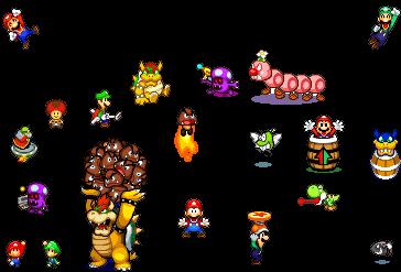 plantilla bowser tirando gomba Mario_and_luigi_games_sprites_by_yoshidude99-d3ip923