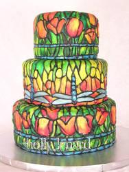 stained glass cake by ilexiapsu