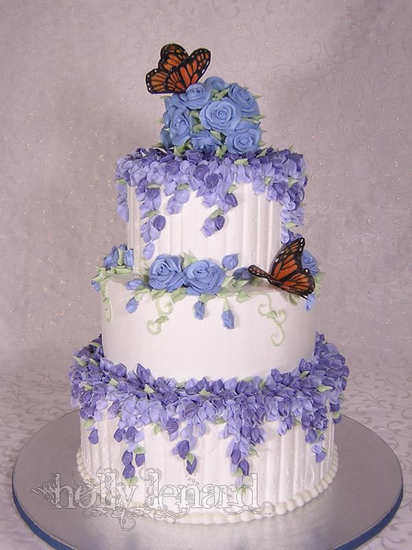 lilac butterfly cake by ilexiapsu