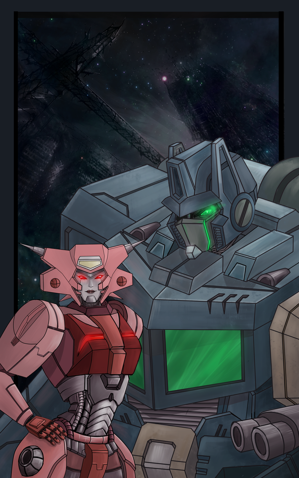 dark!Elita and Nemesis by Schizoplane