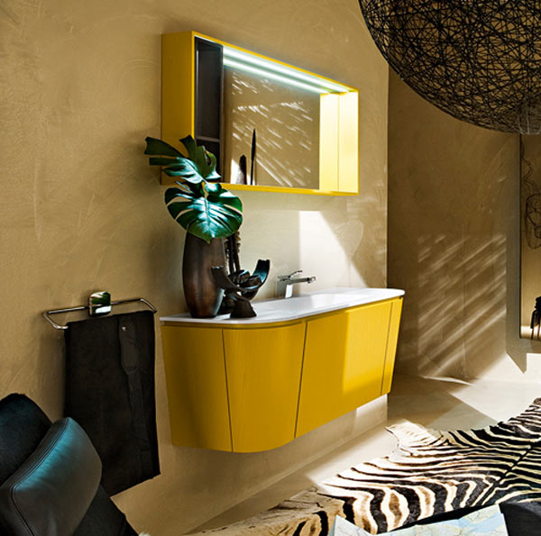 Modern Yellow Bathroom Vanity By Princerafflesia On Deviantart