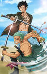 Trafalgar Law - Roronoa Zoro - One Piece - by imaginARIart