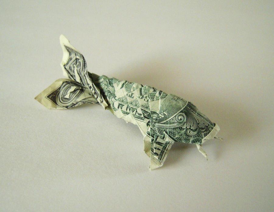 Dollar origami koi by supernatural28 on deviantart for Dollar bill koi fish