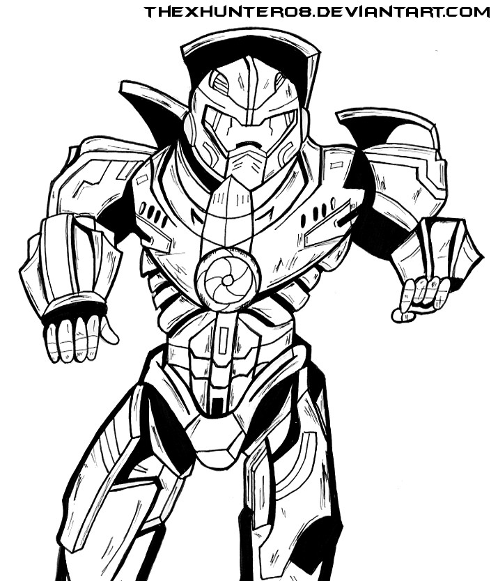 Pacific Rim: Gipsy Danger Lineart by TheXHunter08 on