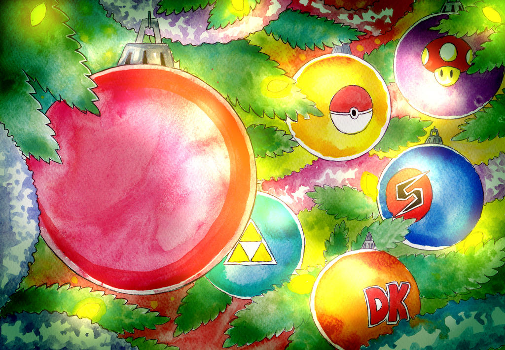 Nintendo Christmas.Nintendo Christmas By Aquamu On Deviantart