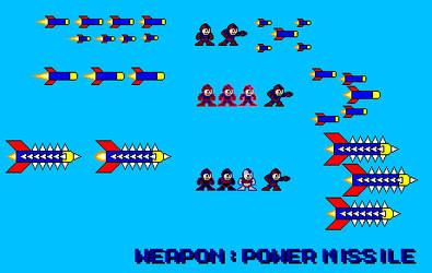 Mega Man Weapon Power Missile